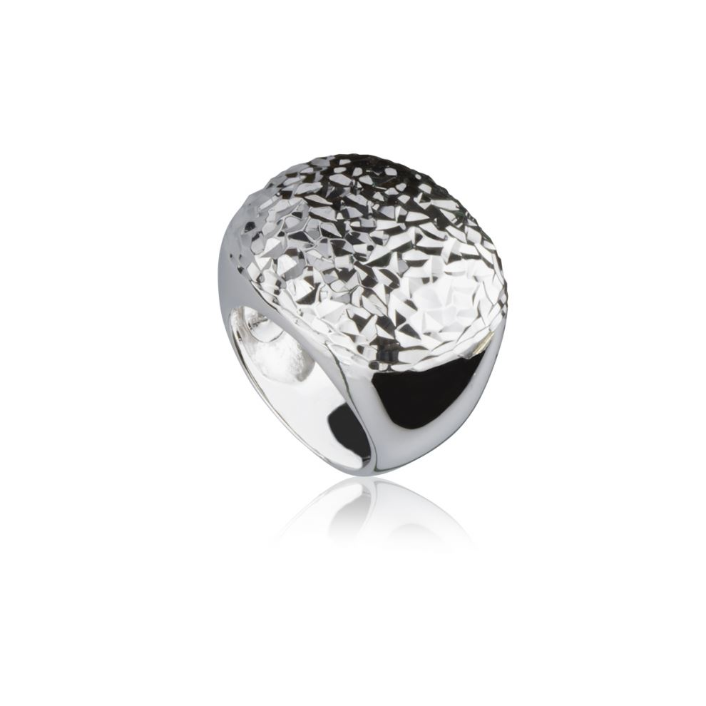 Silver Waves Ring Engraved