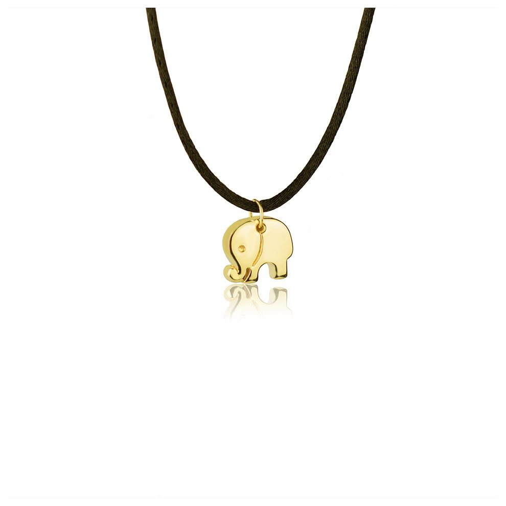 18kt yellow Gold Elephant Necklace