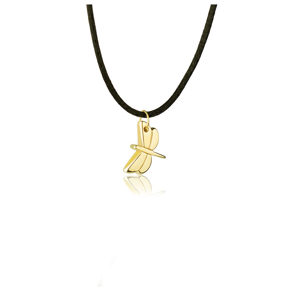 Yellow 18k Gold Dragonfly Necklace