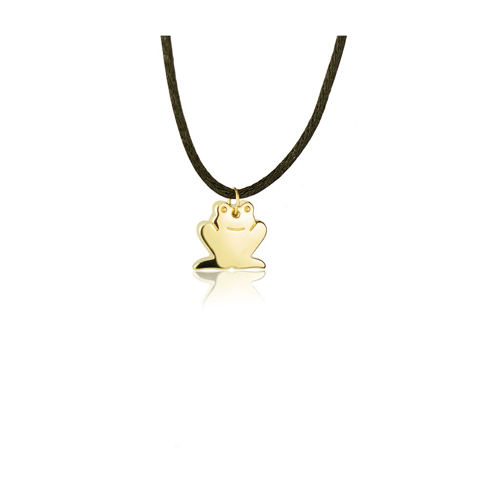 18kt yellow Gold Frog Necklace