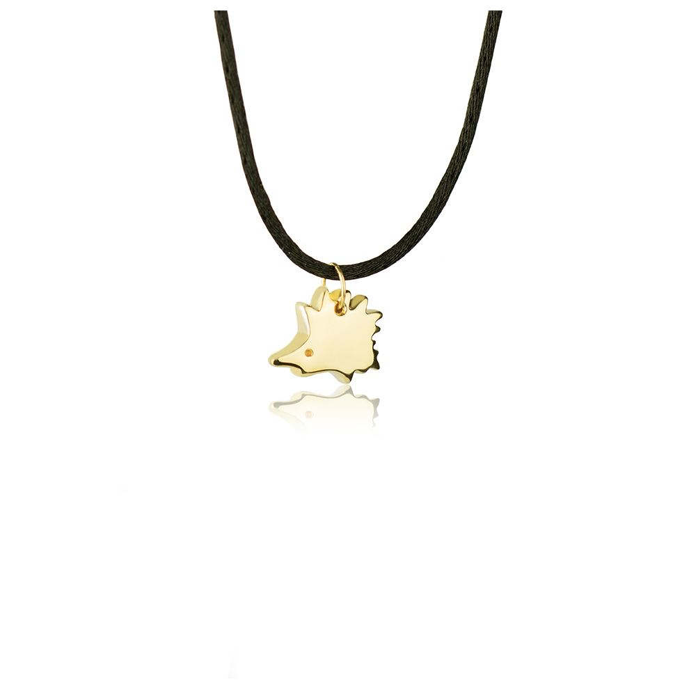 18kt Yellow Gold Hedgehog Necklace