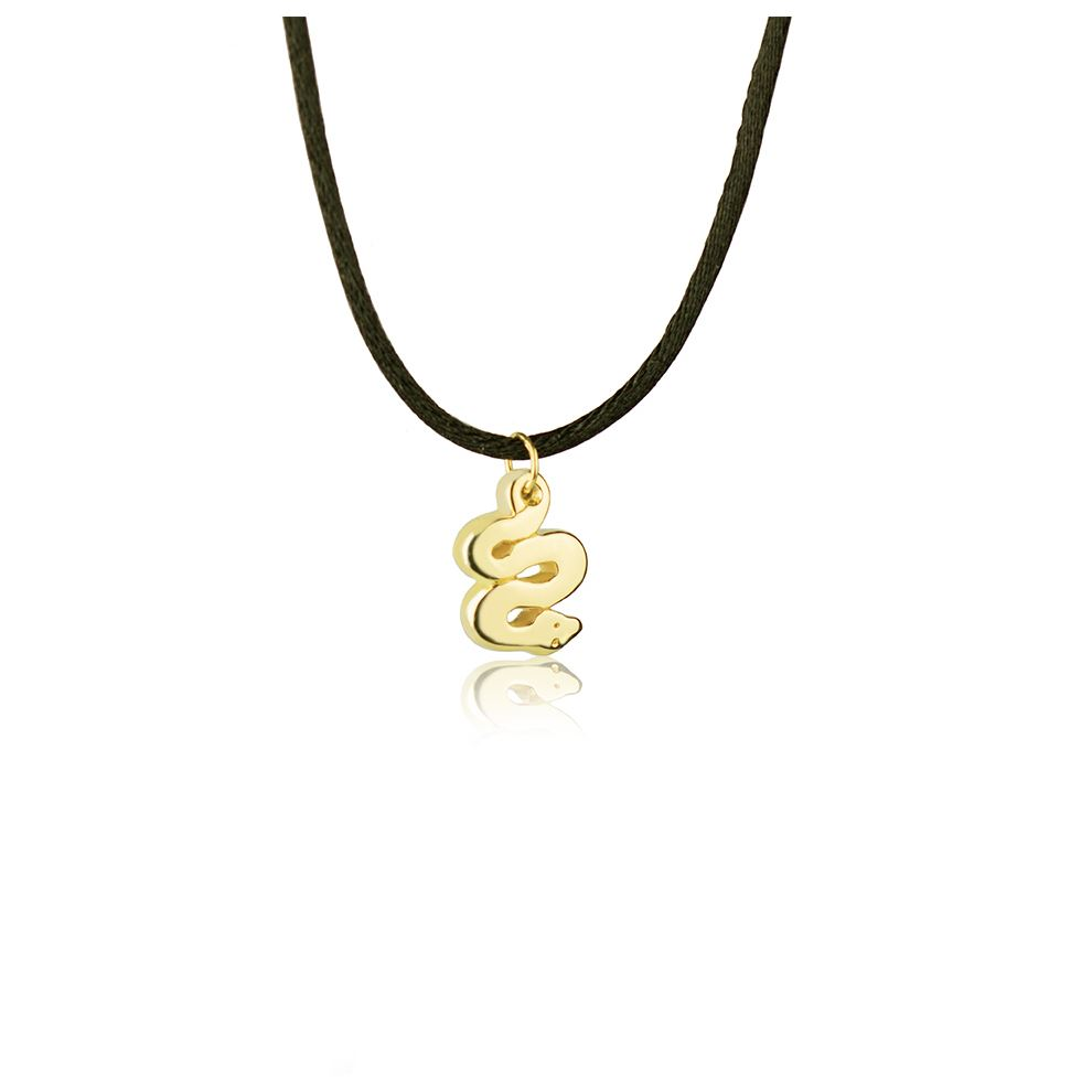 18kt yellow Gold Snake Necklace
