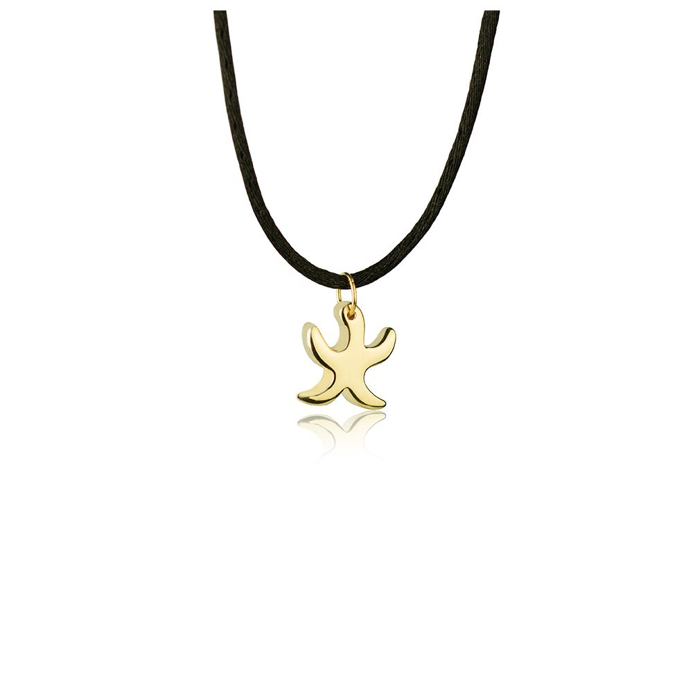 18kt Yellow Gold Starfish Necklace