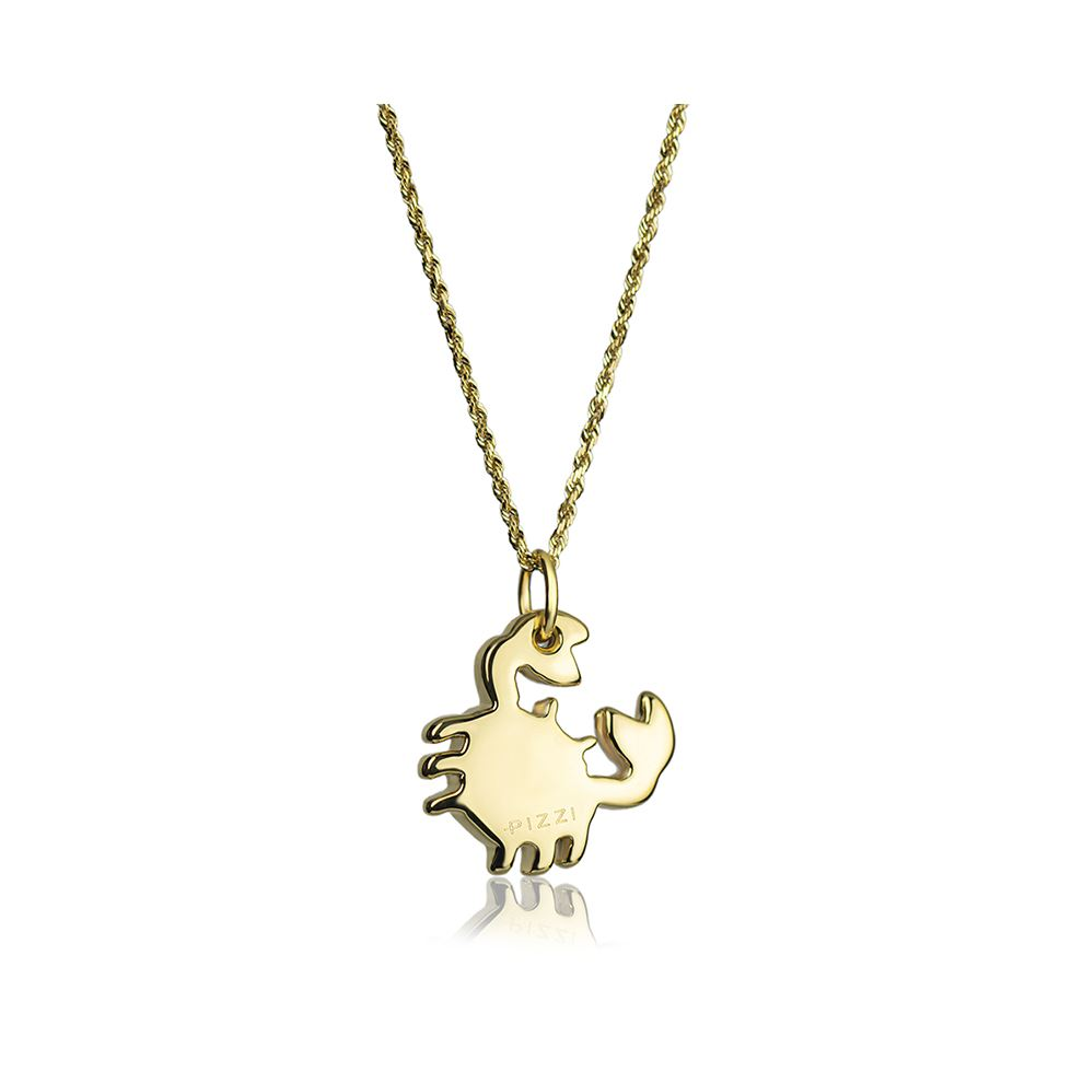 18kt yellow Gold Chain Crab Necklace