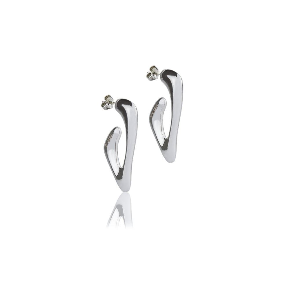 silver triangle earrings style collection