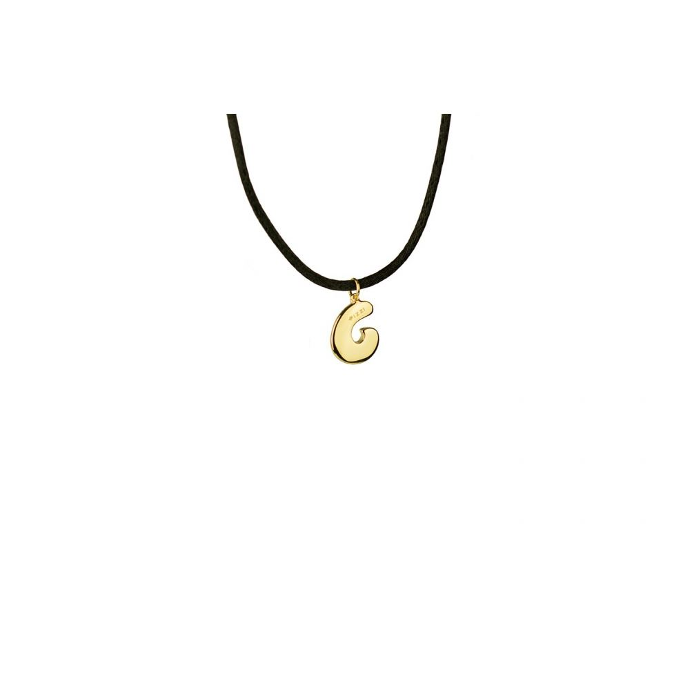 Yellow Gold 18kt Necklace Initial Letter C