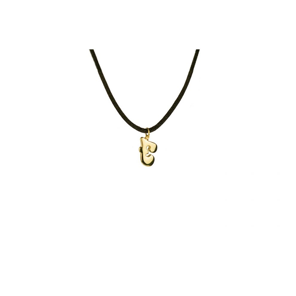 Yellow Gold 18kt Necklace Initial Letter F