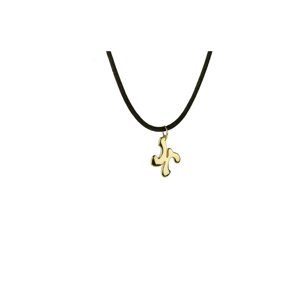 Yellow Gold18kt Necklace Initial Letter H