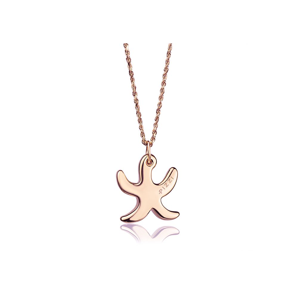 18kt Rose Gold Chain Starfish Necklace