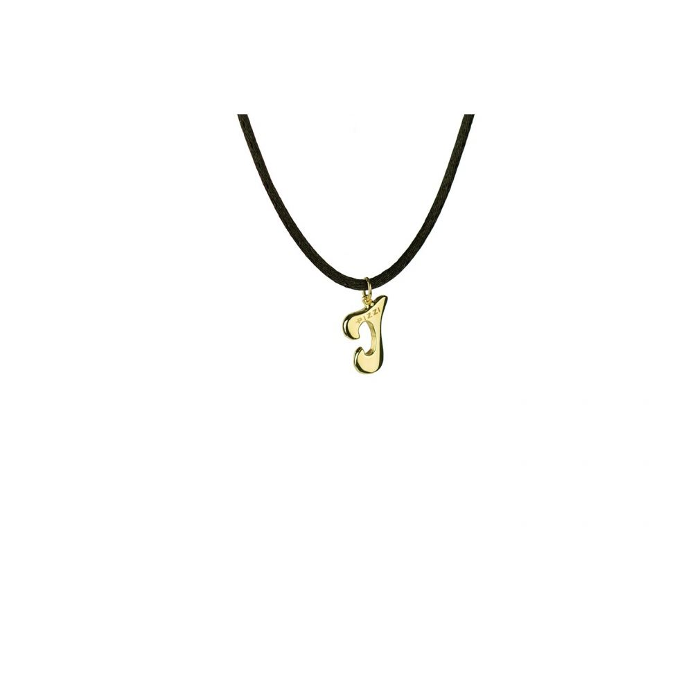Yellow Gold 18kt Necklace Initial Letter I