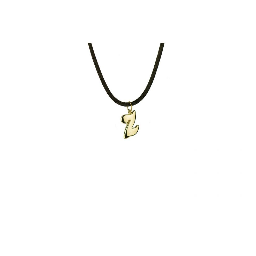 Yellow Gold 18kt Necklace Initial letter Z