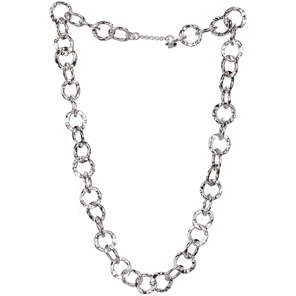 hammered silver necklace