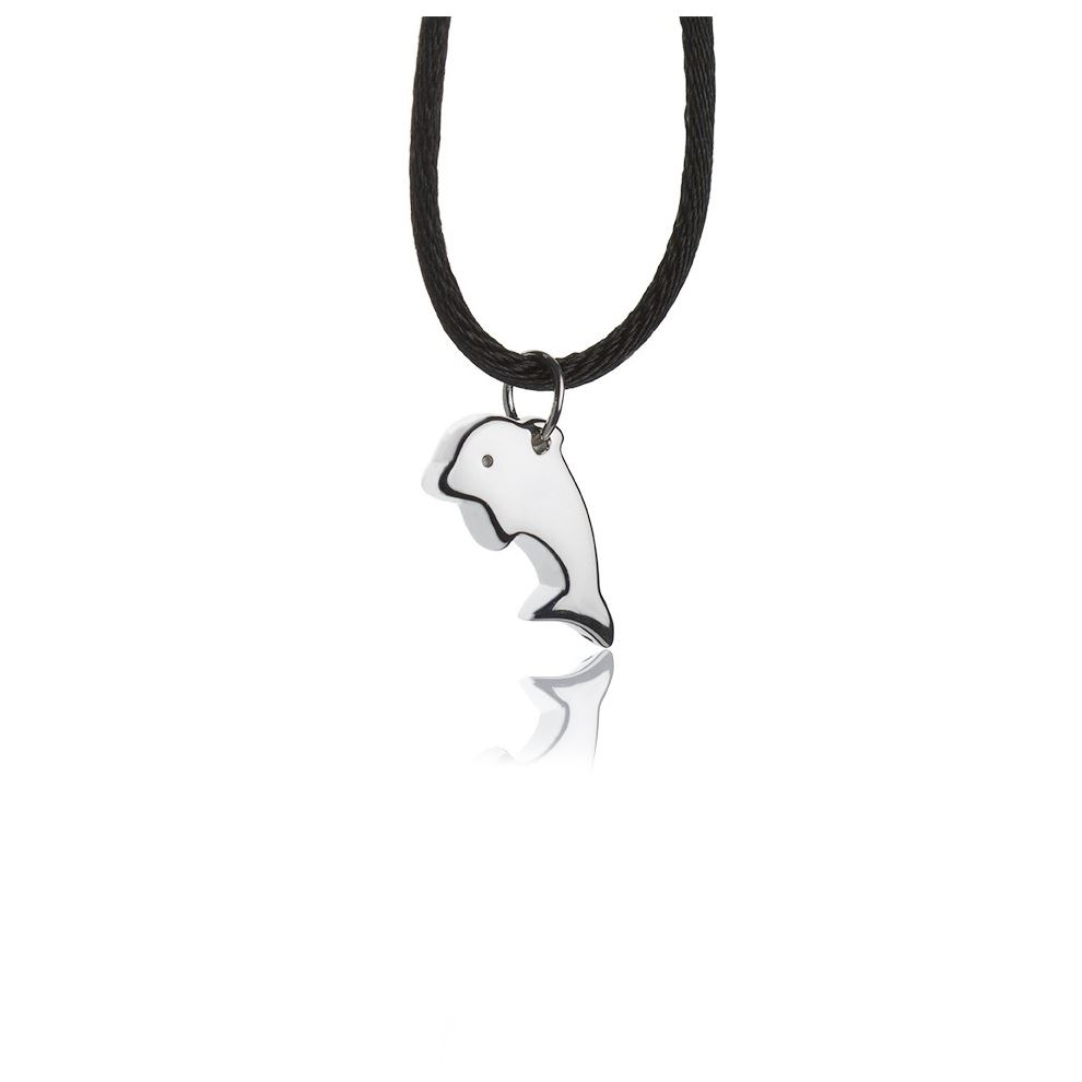 Silver necklace with dolphin pendant